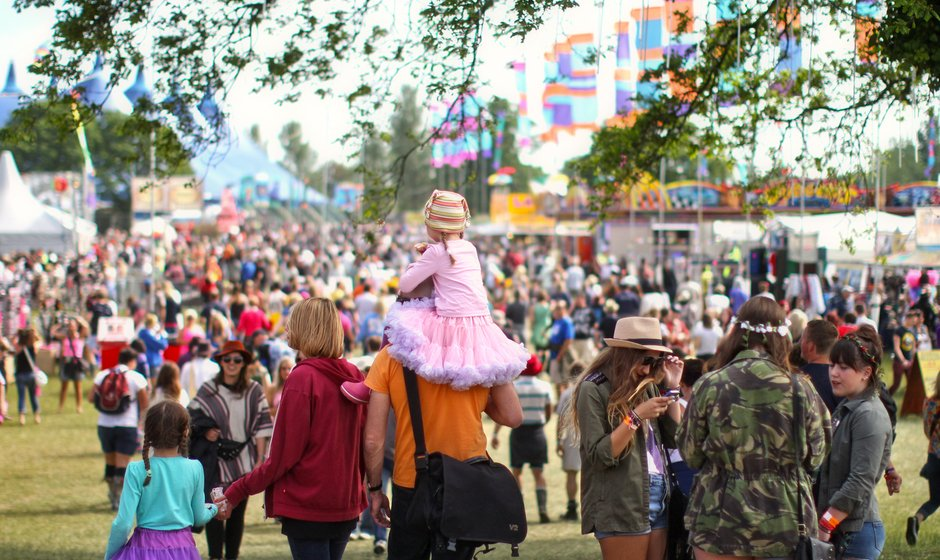 Happy Isle of Wight festival goers