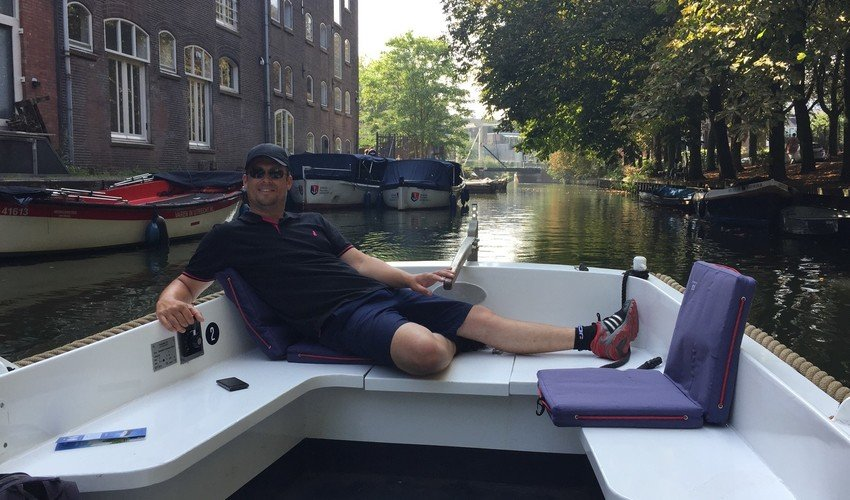 Eddy Young chilling on the canals