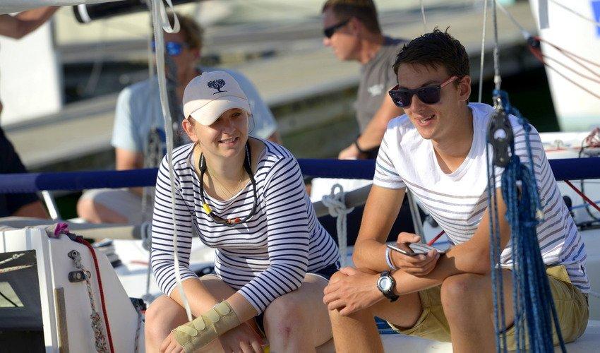 Happy yachting ladies