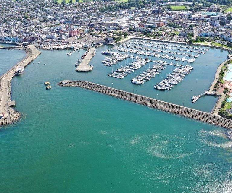 boatfolk bangor marina aerial view hero
