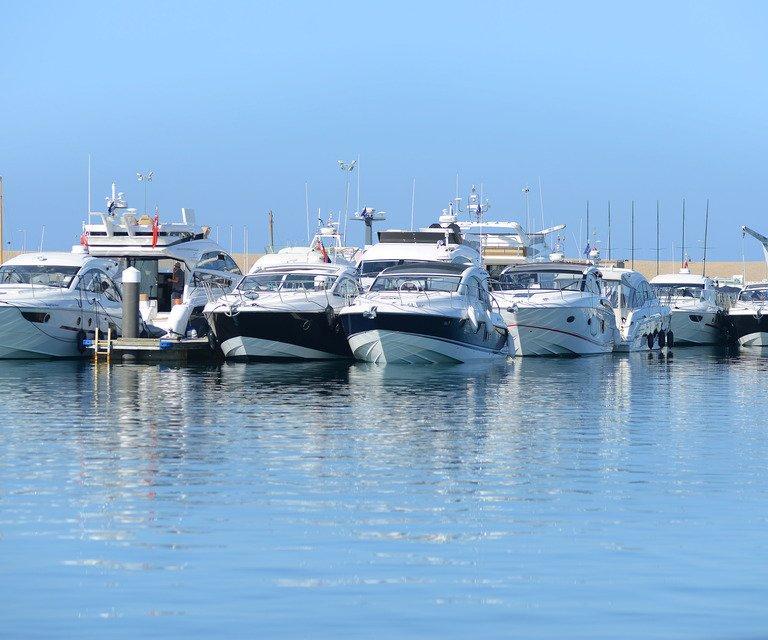 Boats at Portland marina