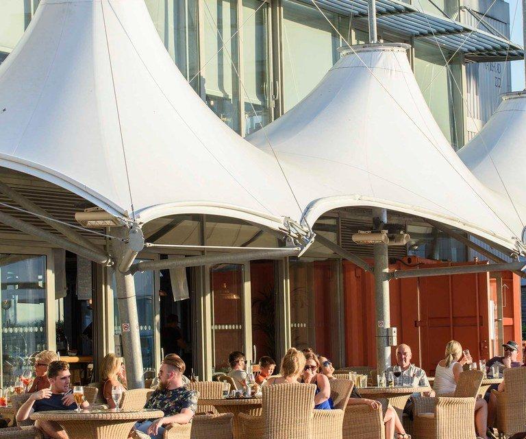 Eating out at Portishead Marina