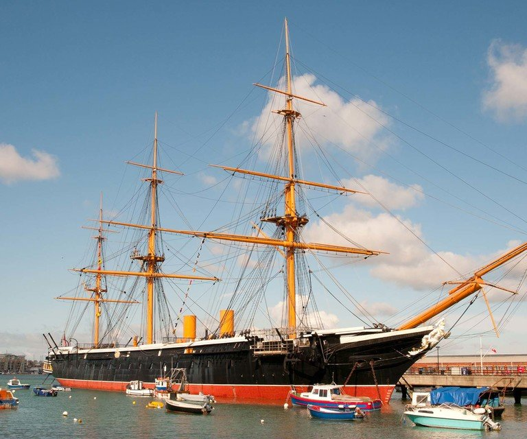 HMS Warrior Haslar Marina