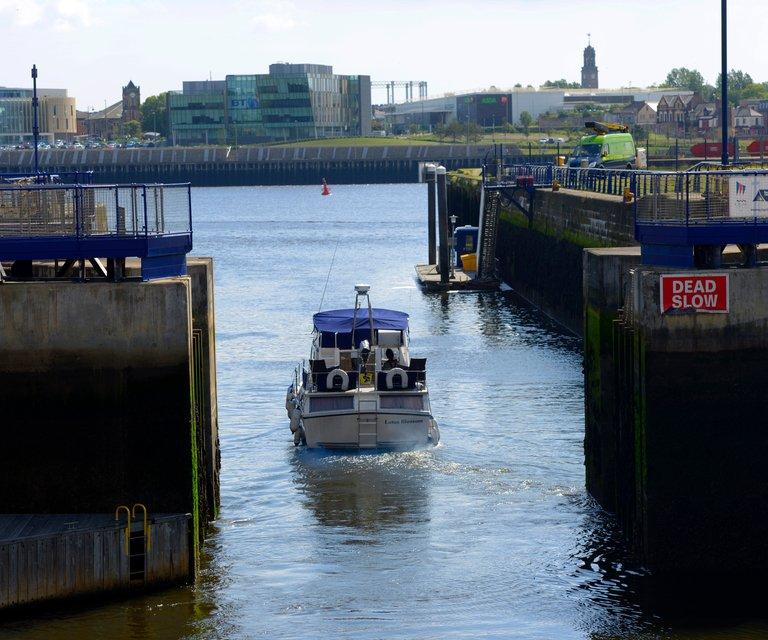 Royal Quays leaving