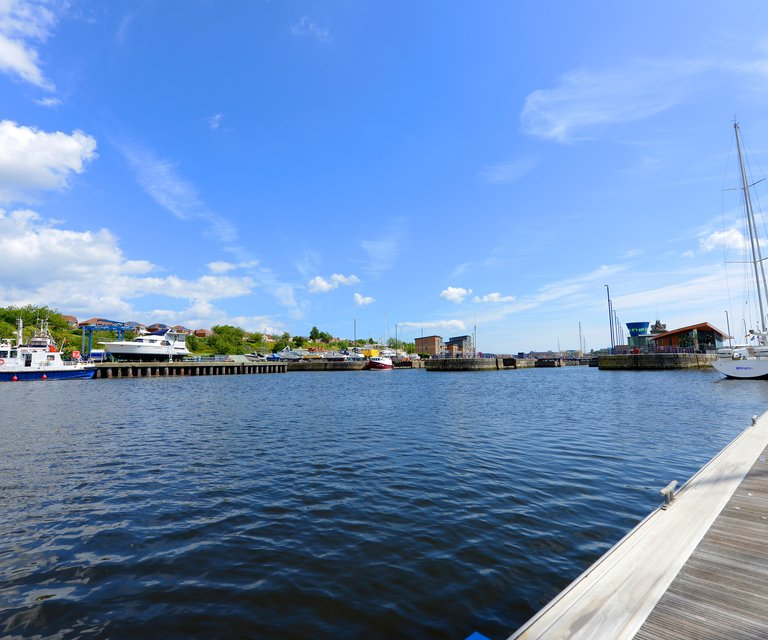 On the water in Royal Quays