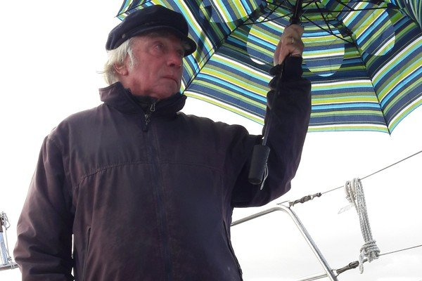 Peter Caswell in the rain (2)