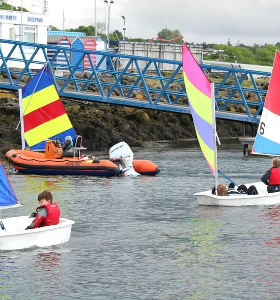 Rhu Junior sailing