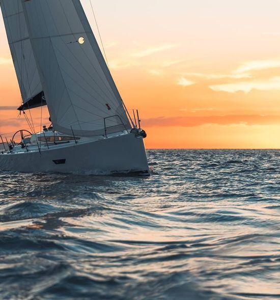 Sunset sailing at Portland marina