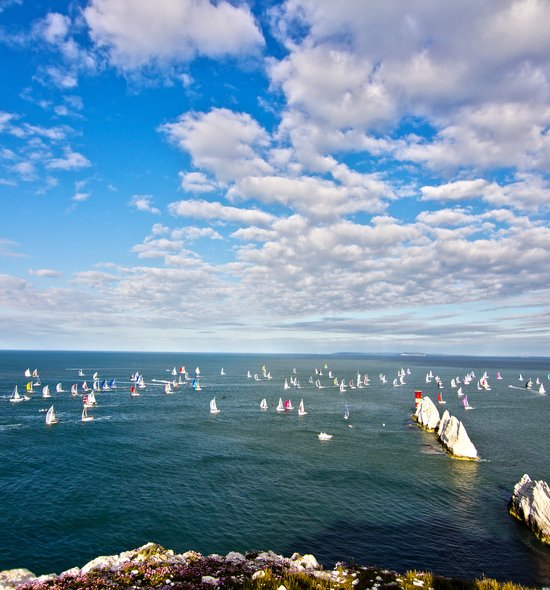 The fleet at the Needles