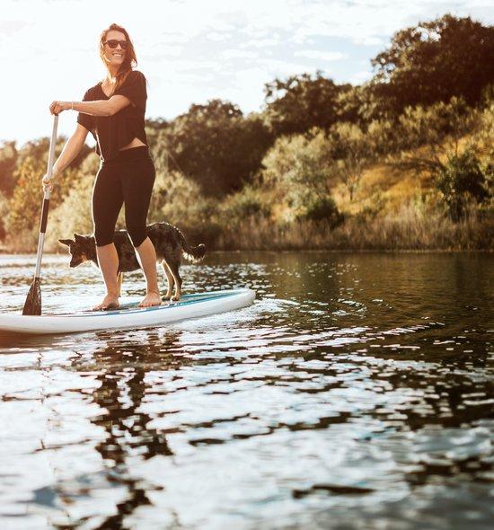 Upriver paddling at Deacons marina