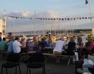 Boaters enjoying late Sunshine after Flotilla