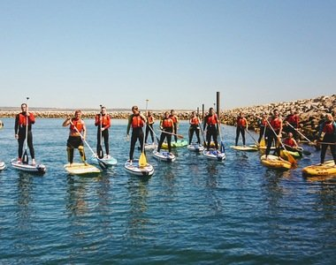 Paddleboarding in Weymouth