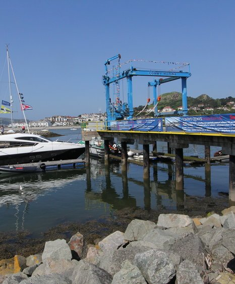 boatfolk conwy marina hoist deck