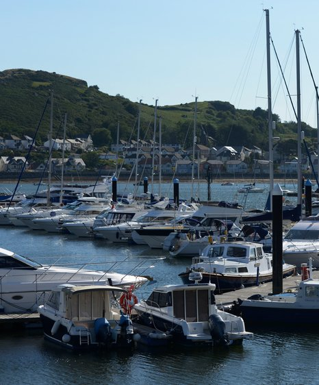 conwy marina view