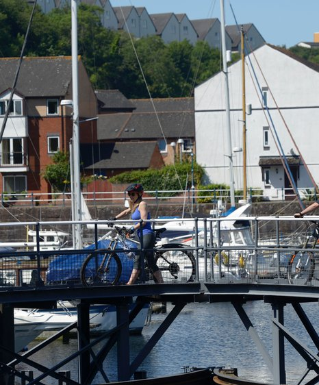 Cycling at penarth marina