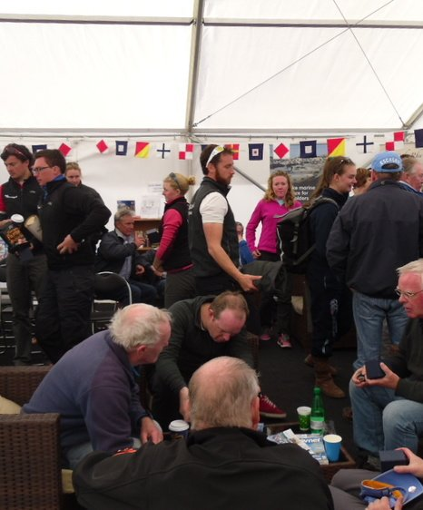 Rhu mudhook regatta   Waiting for the prize giving